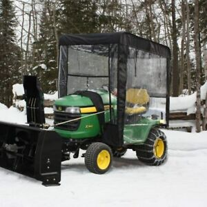Berco snowblower with electric lift, cab, chains, weights,