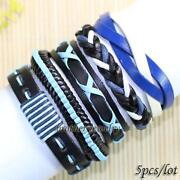 Mens Leather Bracelet Lot