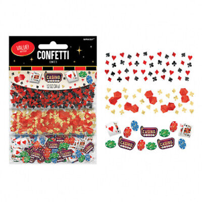 CASINO NIGHT CONFETTI VALUE PACK ~ Birthday Party Supplies Decorations Foil