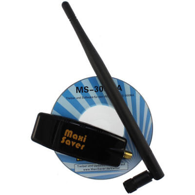 USB Wlan Stick Adapter mit 6dBi Antenne 802.11 b/g/n 300 Mbit  Win7 Win8 Win10
