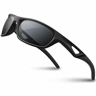 RIVBOS Polarized Sports Sunglasses Driving Glasses Shades for Men TR90 Unbreakab