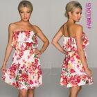 Floral Strapless Dresses A-Line