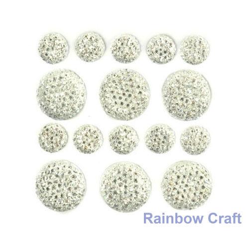 kaisercraft Bling Sparklets / Self Adhesive Rhinestones crystal ebony hearts - Crystal