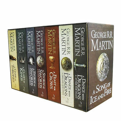 A Game of Thrones Box Set George R. R. Martin 7 Books Set A Song Of Ice and Fire for sale  Shipping to Ireland