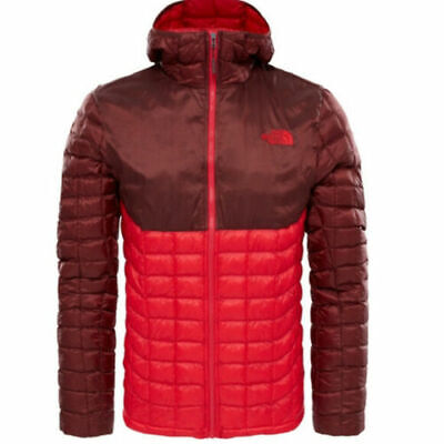 The North Face Men's LARGE Thermoball Full Zip Jacket Puffer Red Hoodie Coat NWT