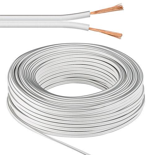 Lautsprecherkabel weiß 2x2,5 mm² 10m Ring