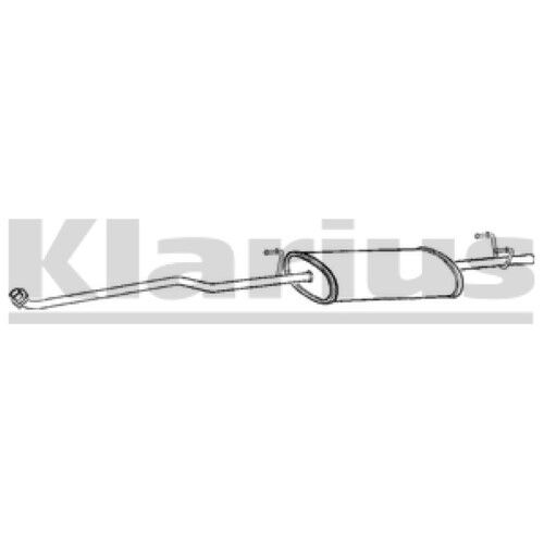 1x KLARIUS OE Quality Replacement Front Silencer Exhaust For MERCEDES-BENZ