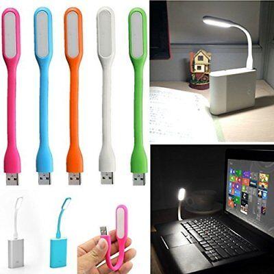 2Pcs Flexible Mini USB LED Light Lamp Night Reading Bright For Notebook Laptop