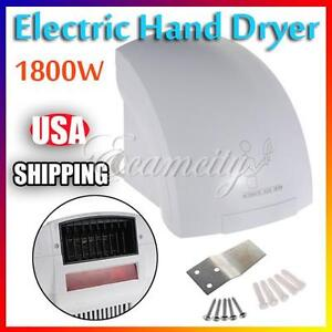 Commercial Hands Free Electric Automatic Infrared Hand Dryer Restroom Bathroom Ebay