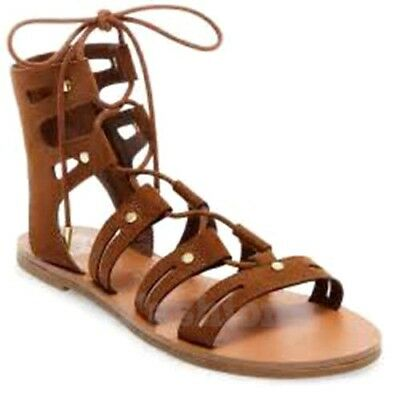 DV for Target by Dolce Vita Gracelyn Lace Up Brown Gladiator Sandals NWOB C331