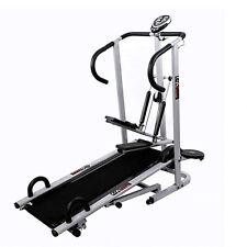 Lifeline 4 In 1 Manual Treadmill Jogger,Twister, Stepper Push Up Bar fitness