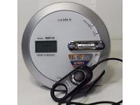 Sony Mp3 Atrac Walkman Portable Cd Player Am Fm Weather Digital Tuner