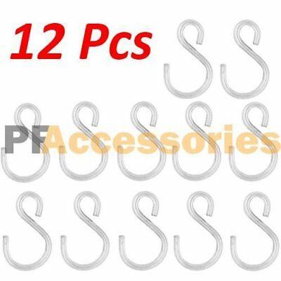 "12 Pcs 1.5"" inch Small Zinc Plated Steel S Shape Type Utilit"