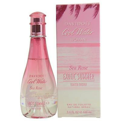 Cool Water Sea Rose Exotic Summer By Davidoff Edt Spray 3 4 Oz Limited Edition