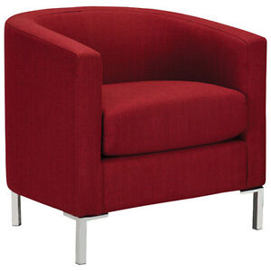 Durian Contemporary Accent Chair - Berry or Rice Paper
