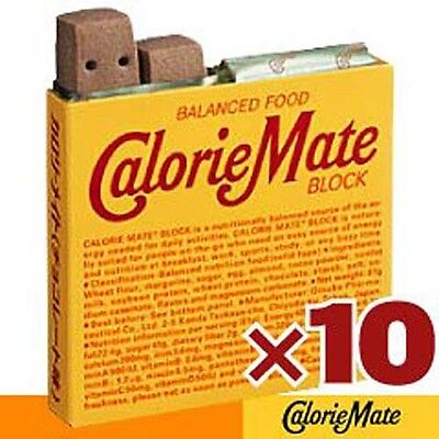 X10 CALORIE MATE BLOCK Chocolate Energy Bar By Otsuka Seiyaku
