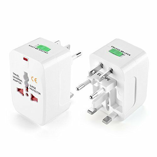 2Pack US to EU Europe and Universal AC Power Plug World