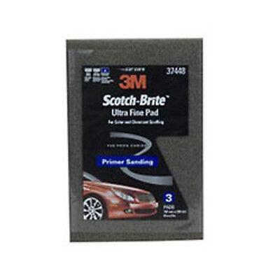 """3M Scotch-Brite Ultra Fine Hand Pad Gray, 6"""" x 9"""", 3 pads/pack (5 Packs) 37448"""
