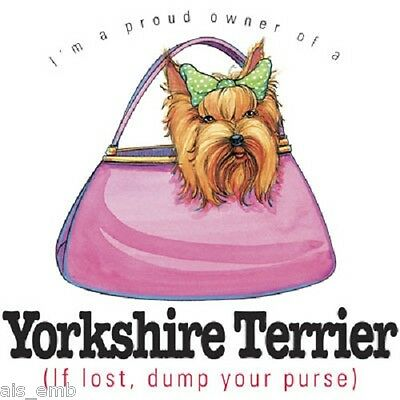Yorkshire Terrier Dog Funny HEAT PRESS TRANSFER for T Shirt Tote Sweatshirt - Yorkshire Terrier Sweatshirt
