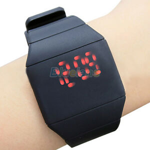WOMENS-MENS-UNISEX-CASUAL-RED-LED-TOUCH-SCREEN-SILICONE-DIGITAL-WRIST-WATCH-B82K