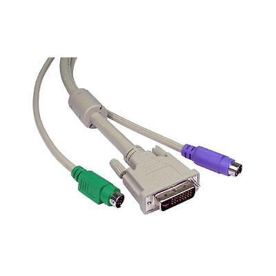 GI639 Cavi KVM per DVI - I & PS2 Scatole interruttori 3 Metri -1 set