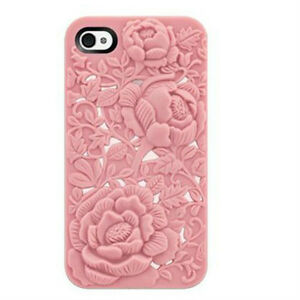 3D-Sculpture-Design-Rose-Flower-Soft-Case-Cover-for-Apple-iphone4-4S-Pink