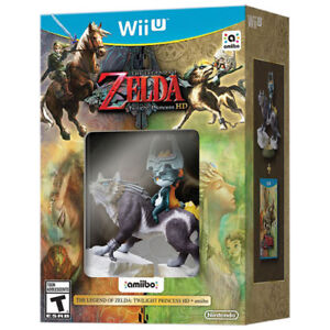 Brand New Zelda Twilight Princess HD with amiibo for WiiU