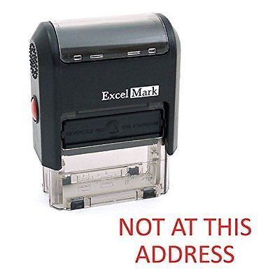 NEW ExcelMark NOT AT THIS ADDRESS Self Inking Rubber Stamp A1539 | Red Ink](not at this address stamp)