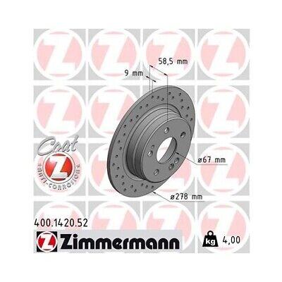 2x Bremsscheibe Bremse ZIMMERMANN 400.1419.52