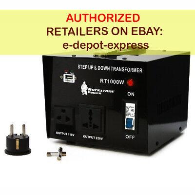 Rockstone Power 1000 Watt Heavy Duty Step Up/Down Voltage Transformer Converter