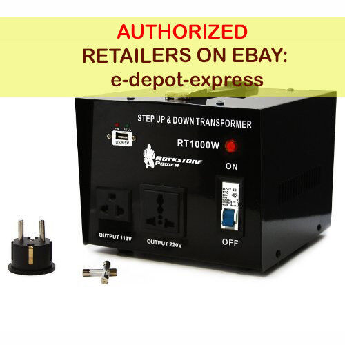 1000 Watt Voltage Converter Transformer Step Up/Down 110V/120V/220V/240V Power