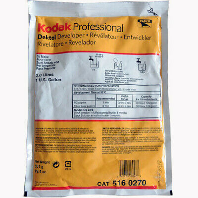 Kodak Dektol Developer D-72 Powder B&W Paper 3.8L (To Make 1 Gallon) CAT 5160270