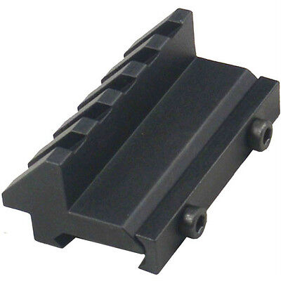 45 Degree Offset Picatinny Weaver Mount  Accessory Rail Adapter Free