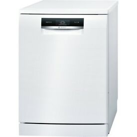 9 month old Bosch Serie | 8 SMS88TW02G white ActiveWater Dishwasher 60cm Freestanding