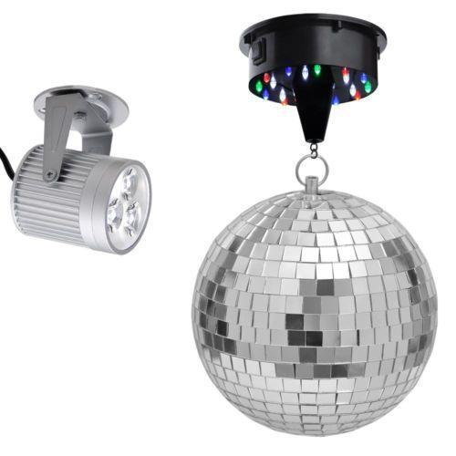 mirror disco ball light ebay. Black Bedroom Furniture Sets. Home Design Ideas