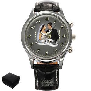 personalized custom wedding photo mens wrist gift ebay
