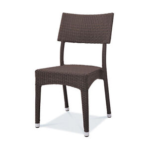 Brand New Coffee Brown Wicker Patio Chairs