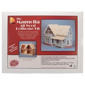 """Dollhouse Kit The Magnolia All Wood Scale 1""""=1' New"""