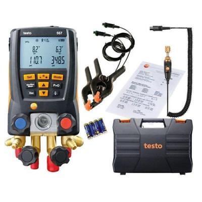DHL ship  Bluetooth TESTO557 digital manifold kit and external vacuum gauge