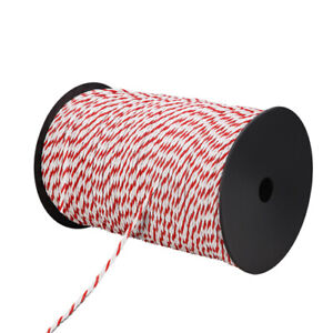 500m Poly Rope Roll Electric Fence Energiser Stainless Steel polyrope Insulator