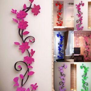 3D-Flores-Pegatina-vinilo-etiqueta-removible-Mural-Decoracion-de-pared-hogar