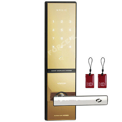 NEW Keyless Locks MAGIC Digital Doorlocks Security Entry RFID Gold Mirror Screen