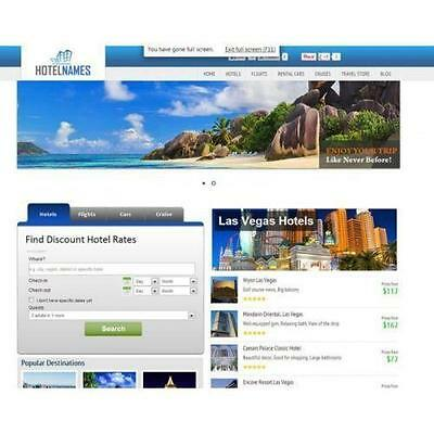 Travel Search Engine Turnkey Website- Huge Income 100 Automated Free Hosting