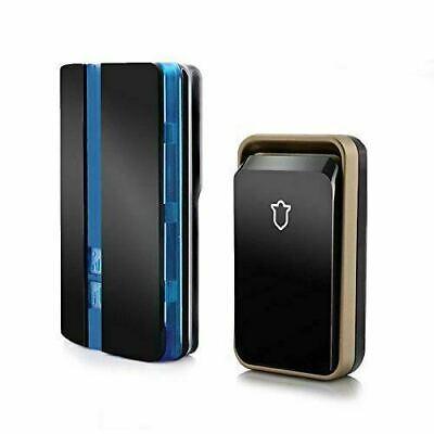 Sonnette sans fil, étanche kit Carillon de porte avec flash LED, 4 Niveau Volume