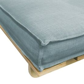 Futon, Duck Egg Blue, Excellent Mattress, Excellent Condition