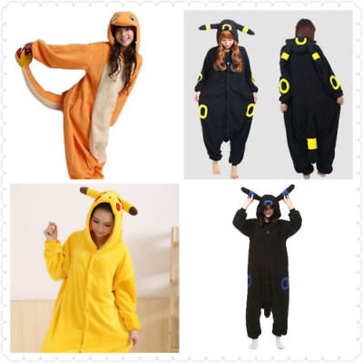 Umbreon Pokemon Pikachu Onesiee Kigurumi Fancy Dress Costume Pyjama Sleep wear