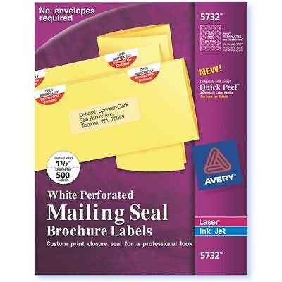 Printable Mailing Seals Round 1 12 Size Label White Ave05732 Category And