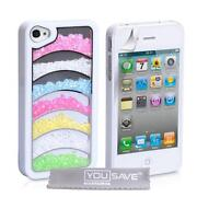 iPhone 4 Case White Bling