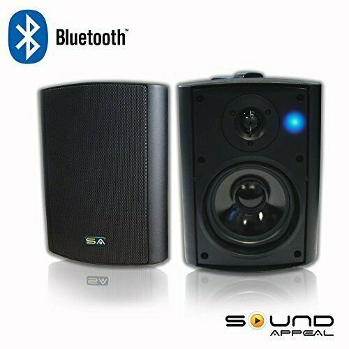 Bluetooth 5.25 Indoor/Outdoor Weatherproof Patio Speakers