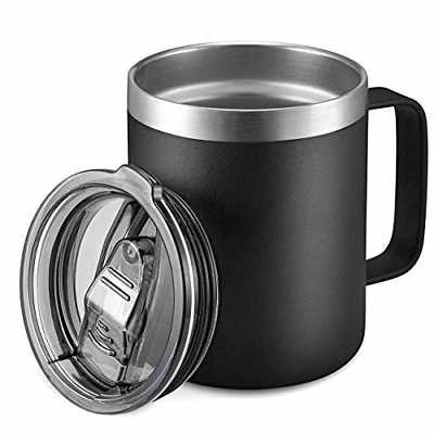 12oz Stainless Steel Insulated Coffee Mug With Handle Double Wall Vacuum Travel - $19.35